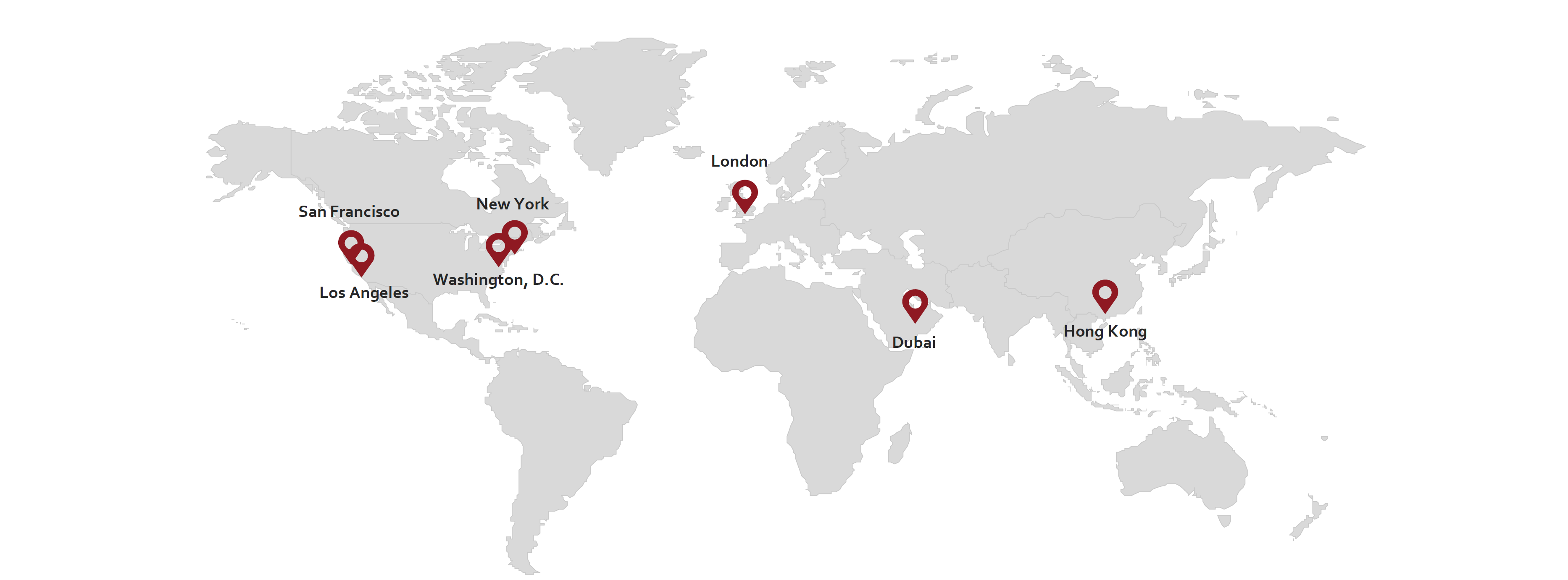 Map of NMS Consulting offices around the world