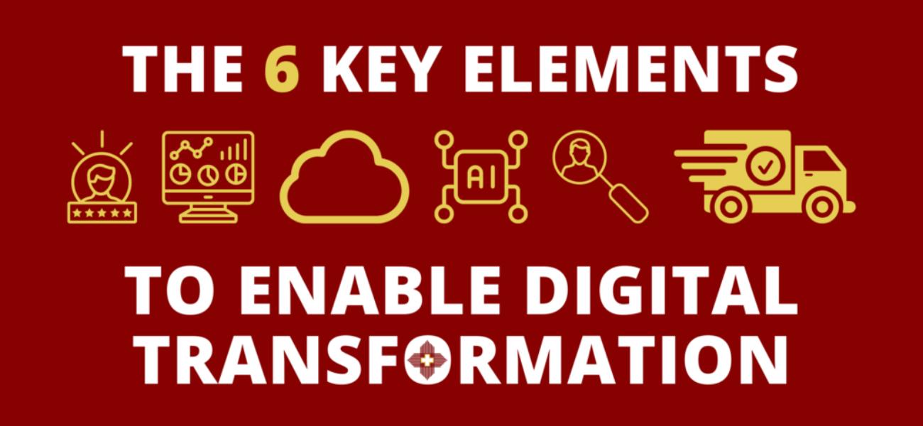 Graphic Key Elements and Roadblocks of Digital Transformation