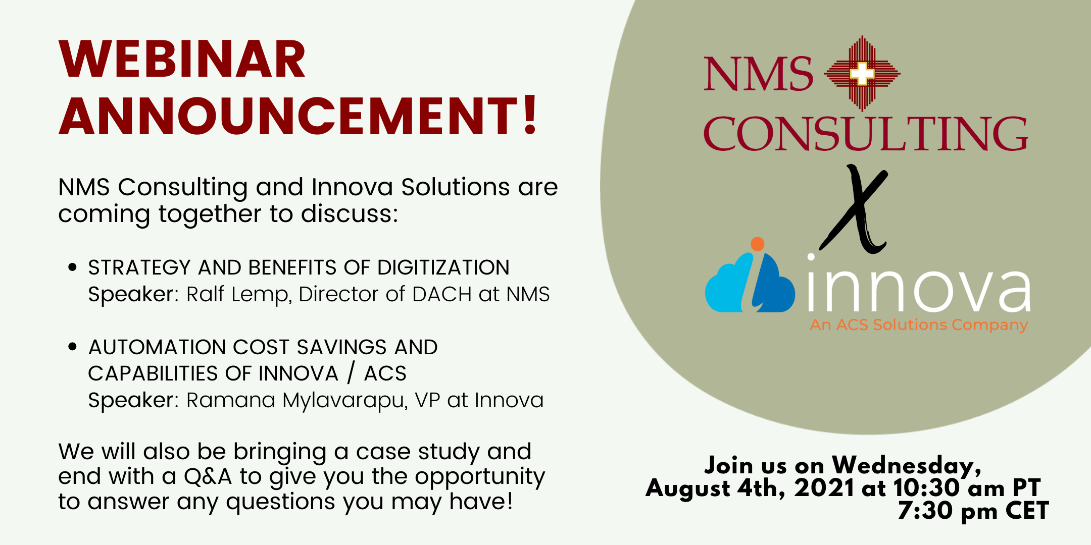 Banner NMS Innova Solutions Webinar